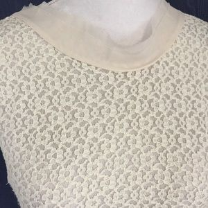 Pinky Tops - PINKY'S Woman's Ivory Lace Tank Top Blouse Size M